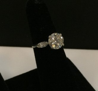 Estate Platinum & 3 Carat Diamond Engagement Ring