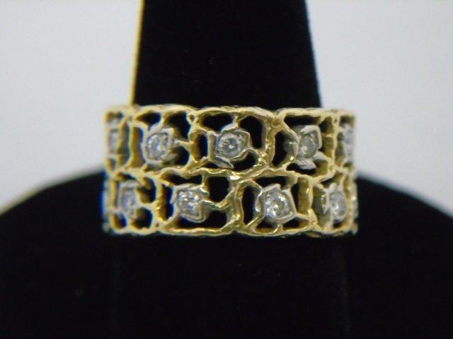 Estate Mario Buccellati Gold & Diamond Ring