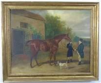 William Barraud (1810-50) Equestrian Oil Painting