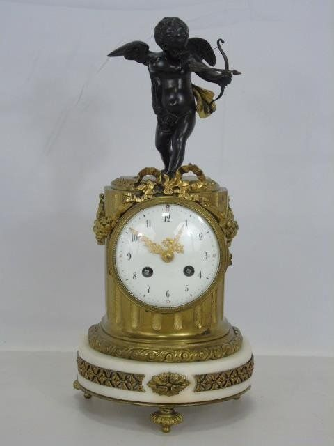 Antique Thieble 19th C. French Bronze Clock