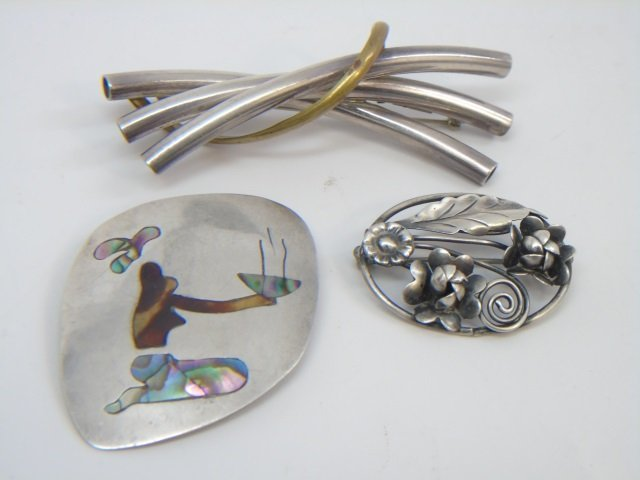 Vintage Sterling Mexican Brooches / Pendants