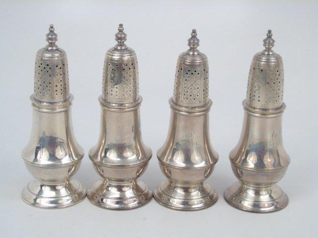 4 Tiffany & Co Makers Sterling Salt Pepper Shakers