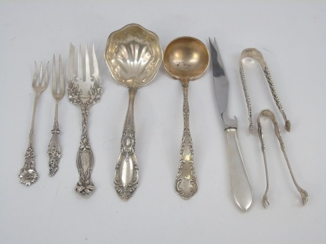 Assorted Antique Sterling Silver Serving Items