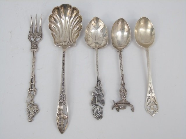 Collection Sterling Silver Souvenir Spoons & Forks