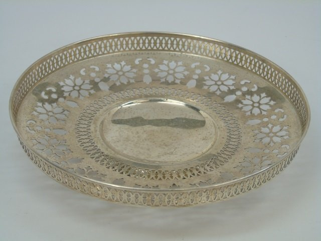 Antique Sterling Silver Reticulated Compote Bowl