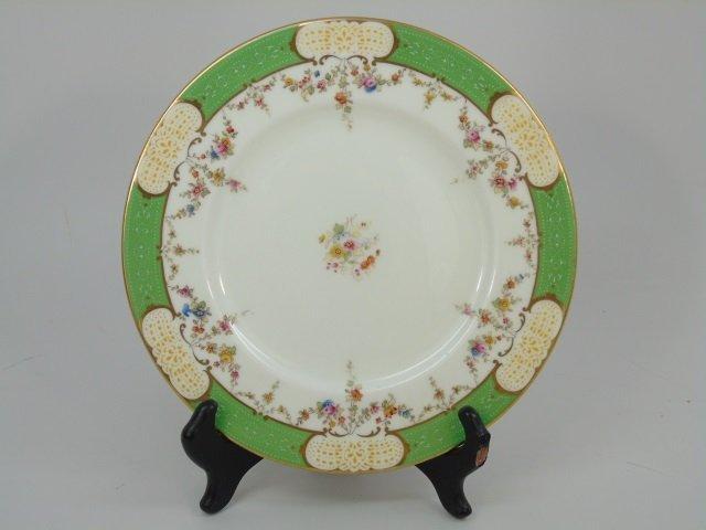 12 Antique English Coalport Floral Dinner Plates