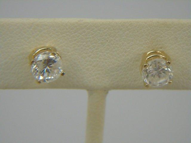 Estate 14kt Gold 1 Carat Diamond Stud Earrings