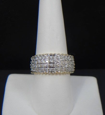 Vintage 14kt Yellow Gold & Diamond Ring