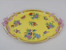 Herend Of Hungary Porcelain Serving Platter Vboj