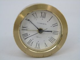 Tiffany & Co Small Round Table Clock