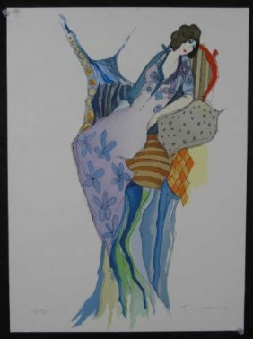 Tarkay Pencil Signed & Numbered Print