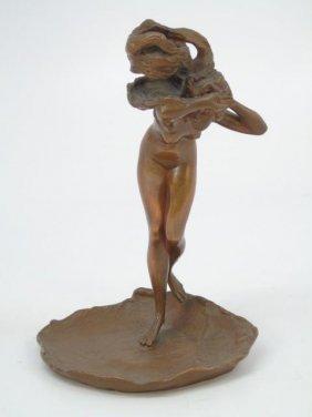 Franz Bergmann Austrian Bronze Figure Of A Lady
