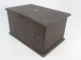 Antique Tudor / Jacobean Style Carved Wood Box