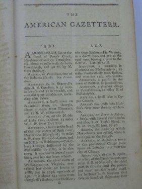 Antique Book By Jedidiah Morse American Gazeteer