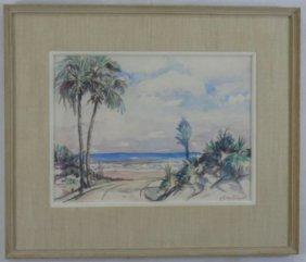 Gladys Vinson Mitchell Coastal Landscape Painting