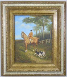 Contemporary Painting - English Hunt Scene