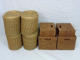 Group Of Eight Contemporary Storage Baskets