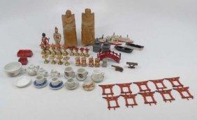 Collection Vintage Antique Dollhouse Miniatures
