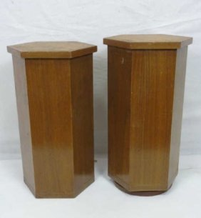 Pair Custom Made Morrocan Style Pedestal Tables
