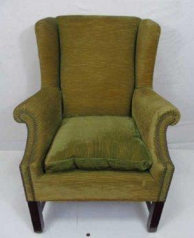 Vintage Georgian Style Velvet Upholstery Armchair