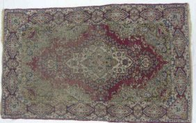 19th C Persian Sarouk Hand-knotted Wool Rug