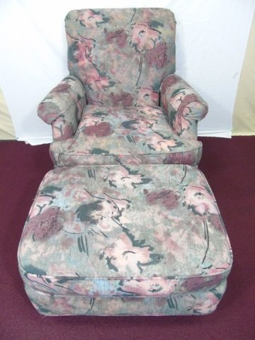 Contemporary Flexsteel Upholstered Chair & Ottoman