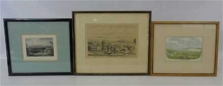 3 Framed Prints  San Francisco Madrid  New York