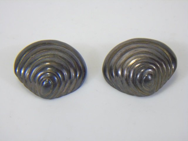 Patricia Van Musulin Sterling Shell Earrings