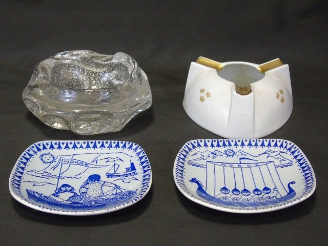 Mid Century / Vintage Ash Trays & Porcelain Plates