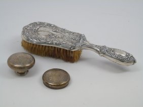 Antique Gorham Sterling Brush & Tiffany Stoppers