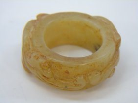 Chinese Carved Jade Ring