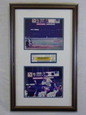 Texas Oakland Athletics Baseball Ticket Photo