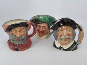 Lot Of 3 Large Vintage Royal Doulton Toby Mugs