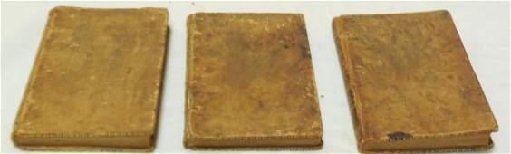 Set of 3 Antique Poetry Books Sheffield Akenside