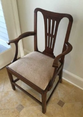 Antique 19th C English Chippendale Arm Chair