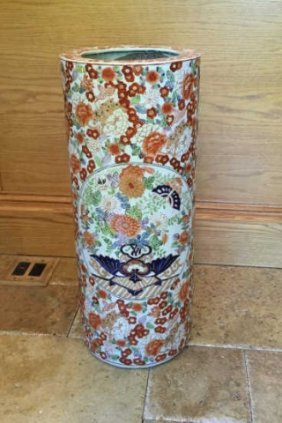Chinese Porcelain Hand Painted Umbrella Stand