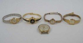 Five Vintage Ladies & Mens Watches / Faces