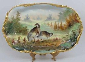 Antique Painted A Heidrich Donath Studio Platter