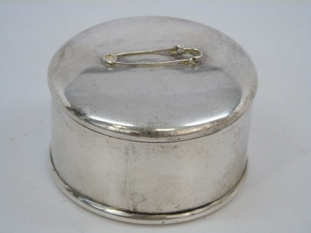 Antique Sterling Silver Safety Pin Dresser Box
