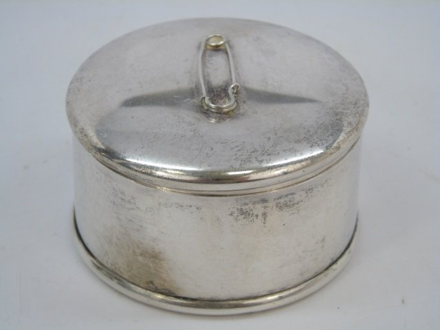 Antique Sterling Silver Safety Pin Dresser Box - 4