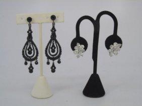 Harry Winston Style Costume Jewelry Earrings