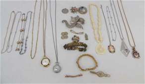Large Group of Vintage Costume Jewelry Items