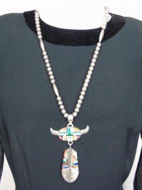 Vintage Alvin Yellow Horse Navajo Silver Necklace