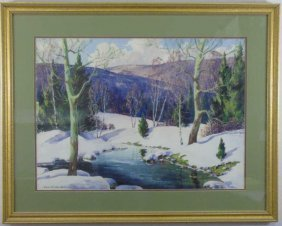 Edna Palmer Engelhardt (1897-1991) Winter Painting