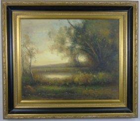 Curan - Barbizon School Style Landscape Painting