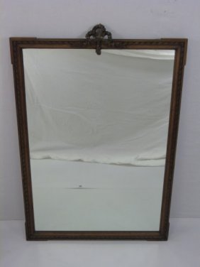 Antique Early 20th Century Carved French Mirror