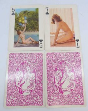 Vintage Set Of Esquire Pinup Playing Cards