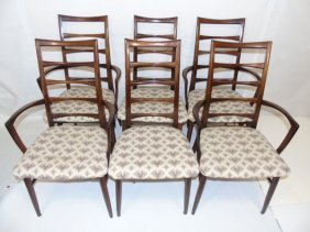 Six Mid Century Maurice Villency Dining Chairs