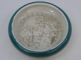 Chinese Monochrome Porcelain Brush Wash Wang Bing