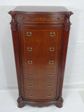 Contemporary Traditional Mahogany Lingerie Chest